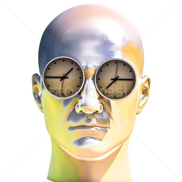 3d Portrait of Worried Stressed Overwhelmed Man Stock photo © Supertrooper