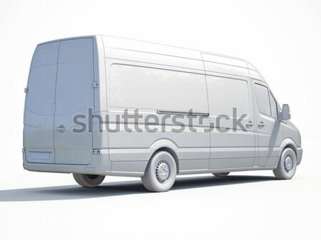 Handlowych van nowoczesne szary wykonawczej kolor Zdjęcia stock © Supertrooper