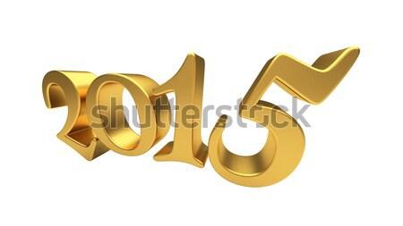 ストックフォト: 金 · 2015 · 孤立した · 新しい · 年 · 3dテキスト