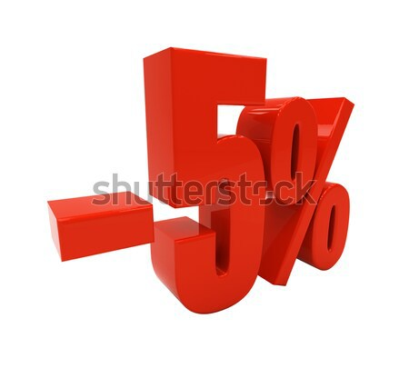 3D 5 percent isolated on white Stock photo © Supertrooper
