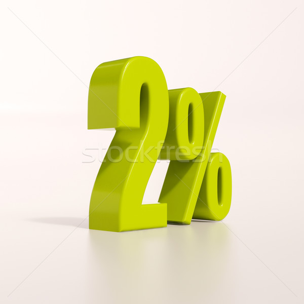 Percentagem assinar por cento 3d render verde desconto Foto stock © Supertrooper