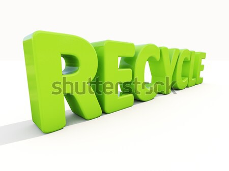 3d word recycle Stock photo © Supertrooper