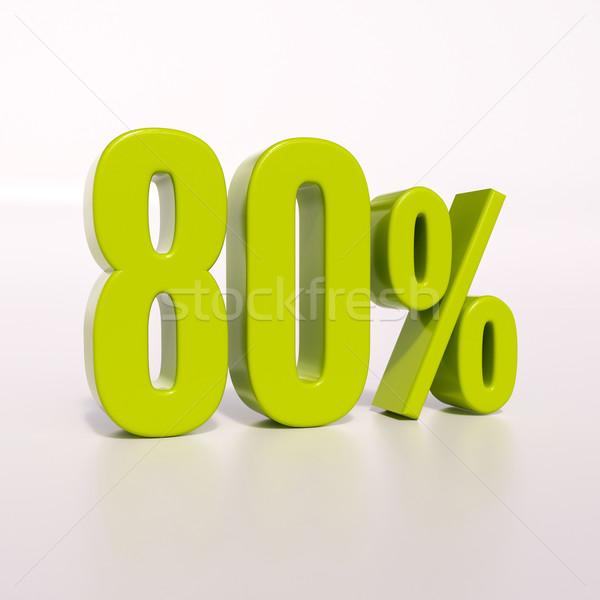 Percentage sign, 80 percent Stock photo © Supertrooper