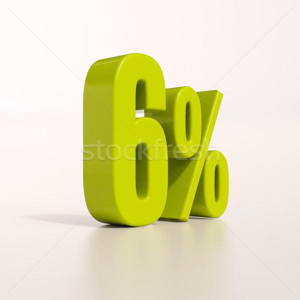 Foto d'archivio: Percentuale · segno · cento · rendering · 3d · verde · sconto