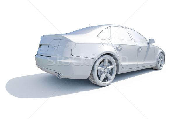 3d Car White Blank Template Stock photo © Supertrooper