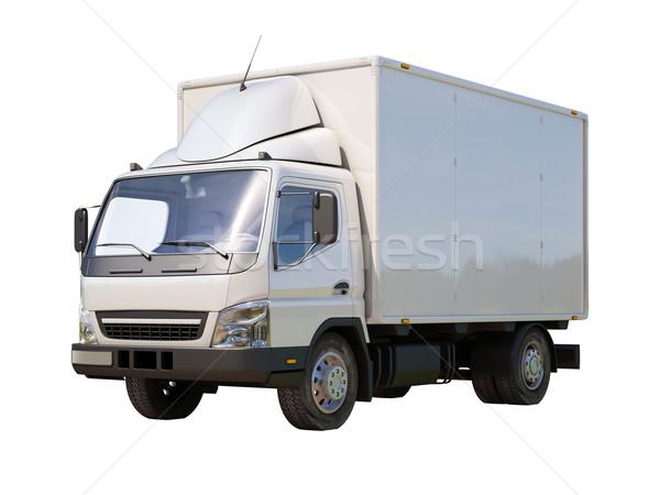 белый коммерческих грузовик изолированный цвета транспорт Сток-фото © Supertrooper