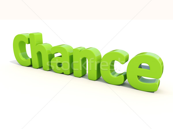3d word chance Stock photo © Supertrooper