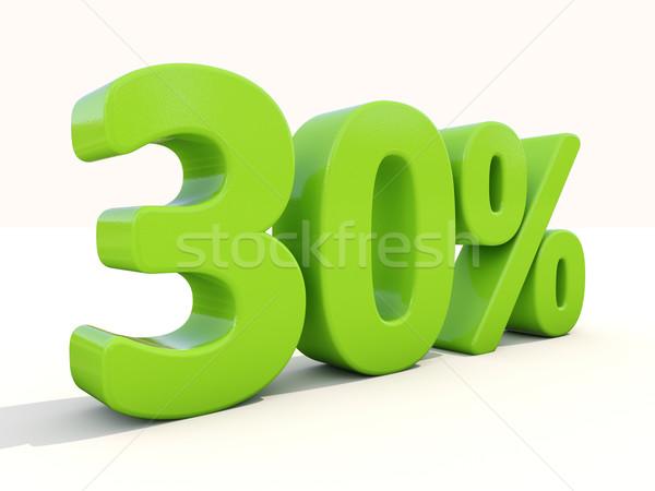 30 процент икона белый тридцать Сток-фото © Supertrooper