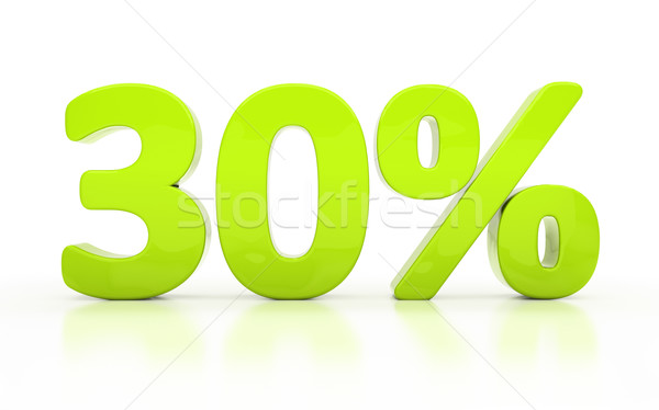3D trente pour cent isolé blanche Photo stock © Supertrooper