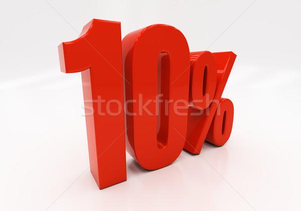 3D 10 percent Stock photo © Supertrooper