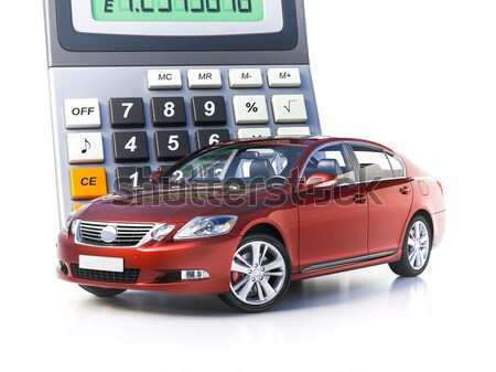 Сar and calculator concept Stock photo © Supertrooper