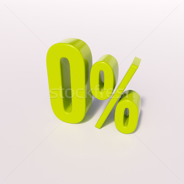 Percentage sign, 0 percent Stock photo © Supertrooper