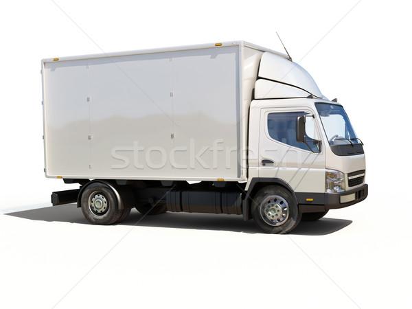 Beyaz ticari teslim kamyon renk taşıma teslim Stok fotoğraf © Supertrooper