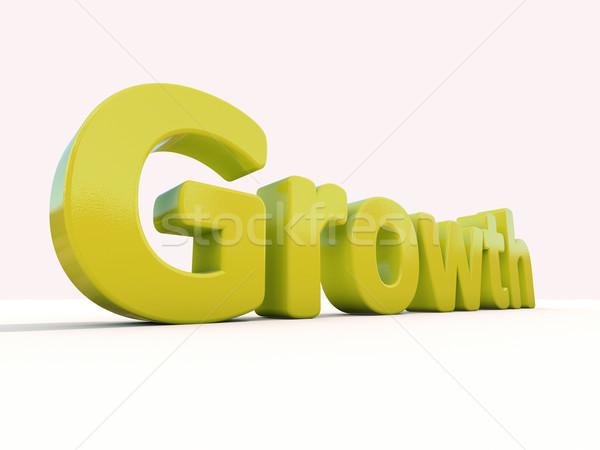3D mot croissance icône blanche 3d illustration Photo stock © Supertrooper