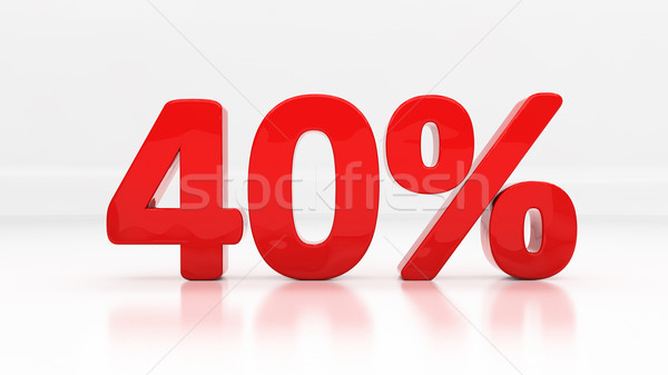 3D czterdzieści procent zniżka 40 Zdjęcia stock © Supertrooper