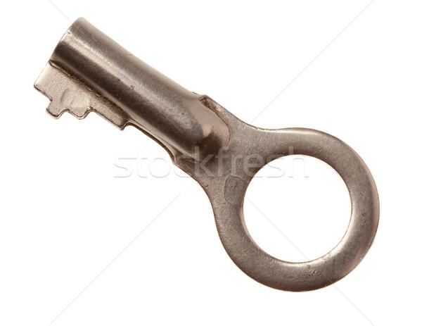 ドアの鍵 孤立した ビッグ 古い 金属 白 ストックフォト © Supertrooper
