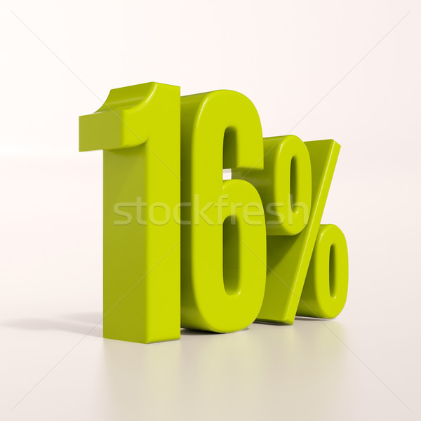 Percentage sign, 16 percent Stock photo © Supertrooper