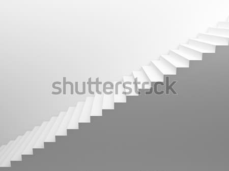 White empty stairs Stock photo © Supertrooper