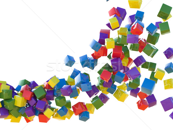Colored cubes Stock photo © Supertrooper