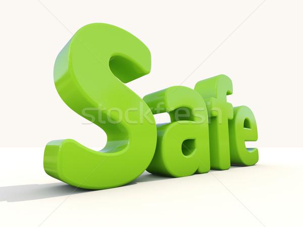 3d word safe Stock photo © Supertrooper