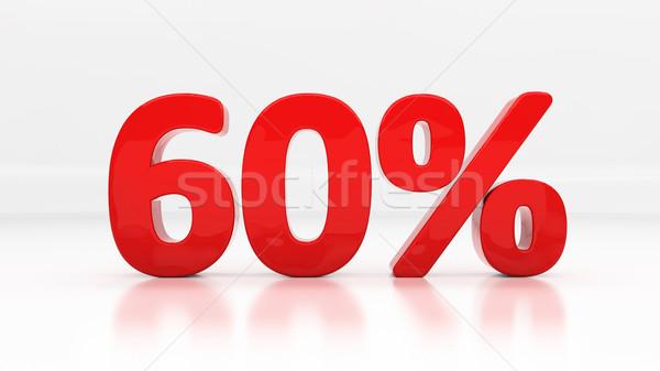 3D zestig procent af korting 60 Stockfoto © Supertrooper