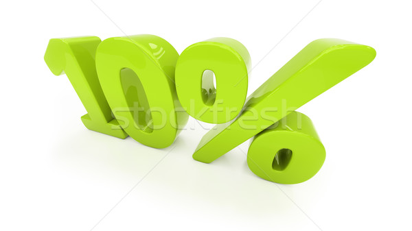 3D ten percent isolated Stock photo © Supertrooper