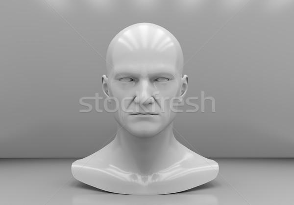 Man's head close-up Stock photo © Supertrooper