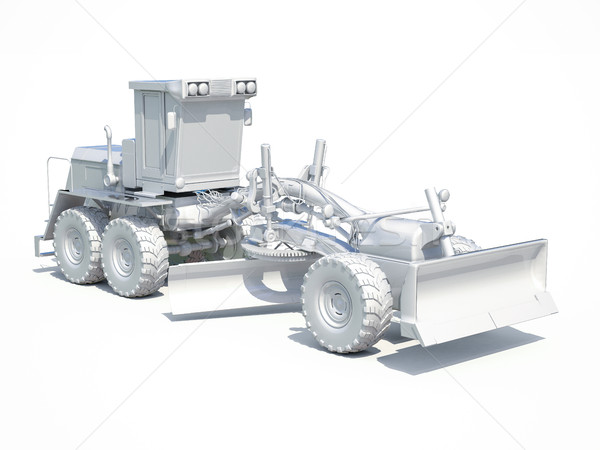 3d White Grader Stock photo © Supertrooper