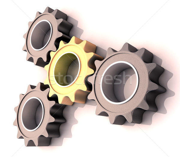 Stock photo: Pinion gear