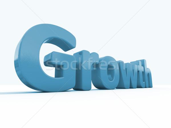 3D palabra crecimiento icono blanco 3d Foto stock © Supertrooper