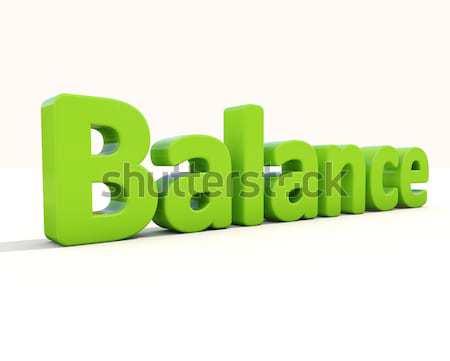3D szó egyensúly ikon fehér 3d illusztráció Stock fotó © Supertrooper