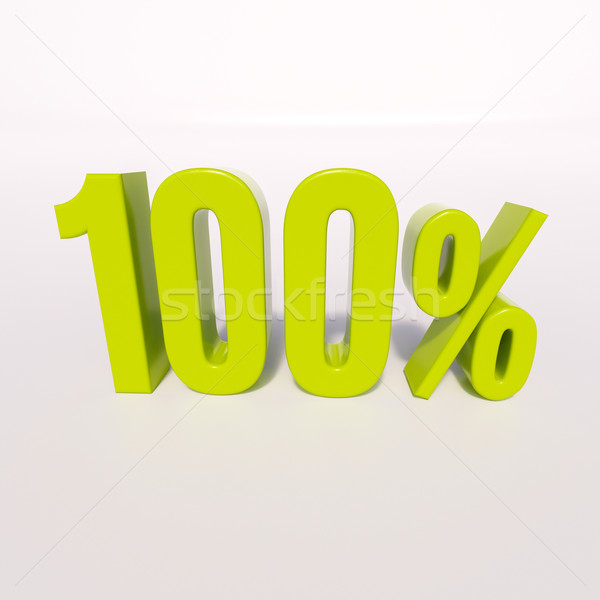 Percentage sign, 100 percent Stock photo © Supertrooper