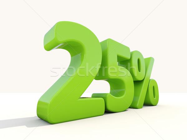 Foto stock: 25 · percentagem · taxa · ícone · branco · vinte