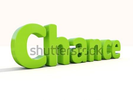 3D kelime seçim ikon beyaz 3d illustration Stok fotoğraf © Supertrooper