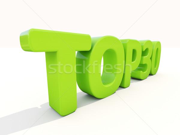 3D felső ikon fehér 3d illusztráció levelek Stock fotó © Supertrooper