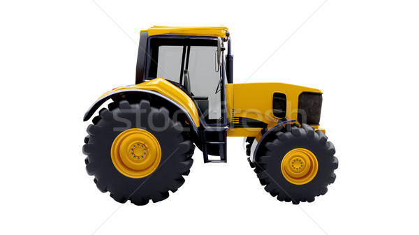 Farm tractor isolated Stock photo © Supertrooper