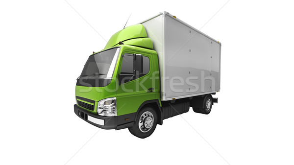 Delivery service truck isolated Stock photo © Supertrooper