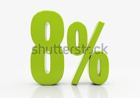 Percentagem assinar 3D desconto isolado branco Foto stock © Supertrooper