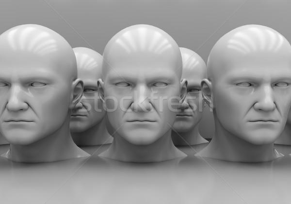 Crowd. Man's head close-up Stock photo © Supertrooper