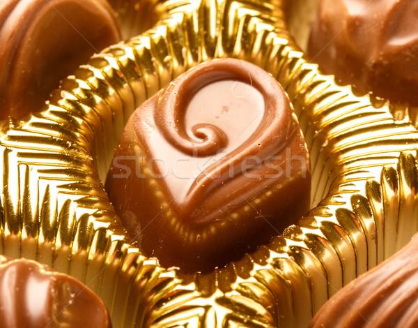Cioccolato dolci primo piano varietà shot Foto d'archivio © Supertrooper