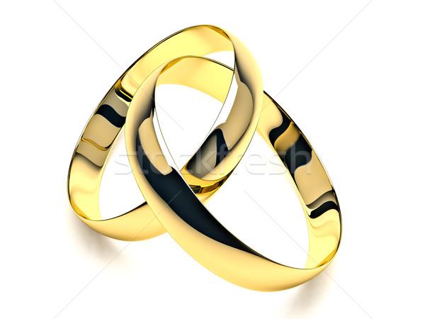обручальными кольцами белый тень брак веры Сток-фото © Supertrooper