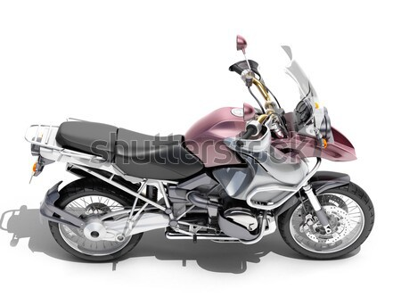 Powerful sportbike isolated Stock photo © Supertrooper