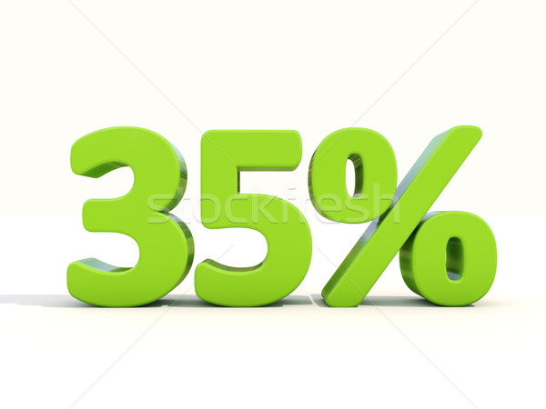 35% percentage rate icon on a white background Stock photo © Supertrooper