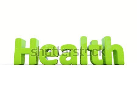 Stock fotó: 3D · szó · egészség · ikon · fehér · 3d · illusztráció