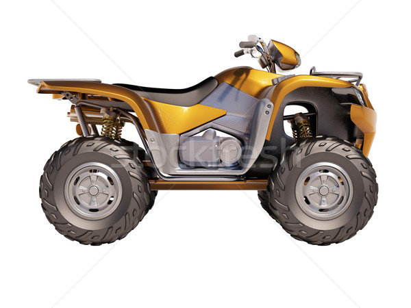 Foto stock: Moto · aislado · blanco · velocidad · motocicleta · suciedad