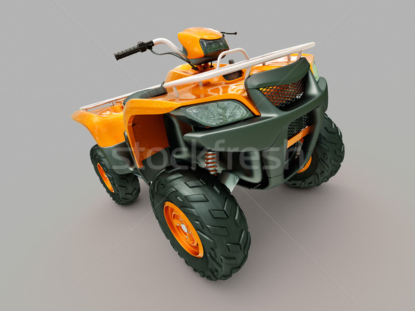 Fiets sport grijs oranje lopen snelheid Stockfoto © Supertrooper