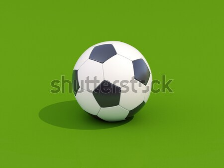 Soccer ball on green Stock photo © Supertrooper