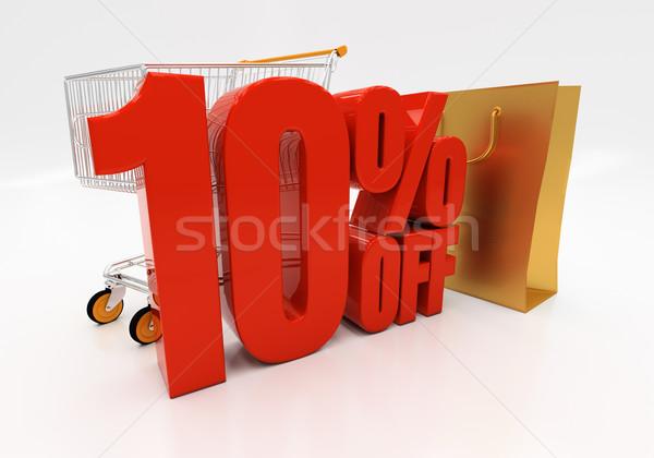 3D 10 процент скидка 3d иллюстрации Сток-фото © Supertrooper