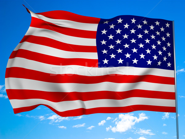 Flag of the United States Stock photo © Supertrooper