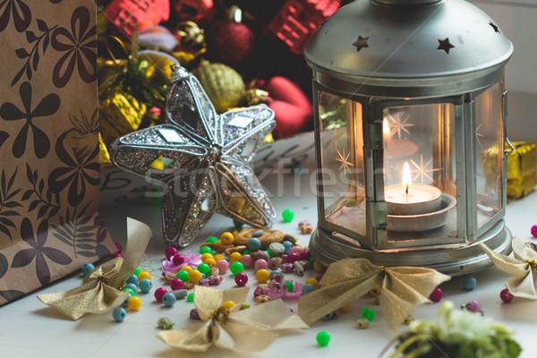 Christmas still life Stock photo © Supertrooper